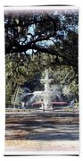 Spring Walk Through Forsyth Park Bath Towel