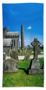 St. Canices Cathedral, Kilkenny City Bath Towel