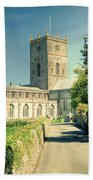 St Davids Cathedral Pembrokeshire Lomo Bath Towel