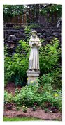 St Francis In The Garden Bath Towel