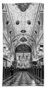 St. Louis Cathedral Monochrome Bath Towel