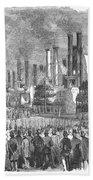 St. Louis: Steamboats, 1857 Bath Towel