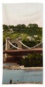 St Nicholas Bridge In Kiev - Ukraine - Ca 1900 Bath Towel