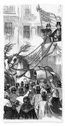 St. Patricks Parade, 1860 Bath Towel by Granger