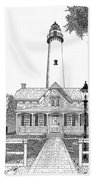 St. Simons Lighthouse Bath Towel