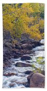 St Vrain Canyon And River Autumn Season Boulder County Colorado Bath Towel