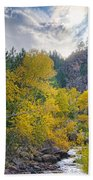 St Vrain Canyon Autumn Colorado View Bath Towel
