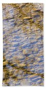 St Vrain River Reflection Bath Towel