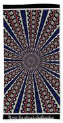 Stained Glass Kaleidoscope 49 Hand Towel