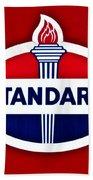Standard Oil Sign Hand Towel