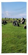 Standing Stones On A Landscape Bath Towel