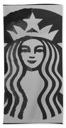 Starbuck The Mermaid In Black And White Bath Towel