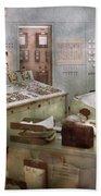 Steampunk - Retro - The Power Station Bath Towel