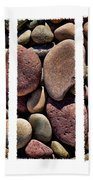 Stone Triptych Bath Towel