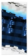 Abstract Guitar In Blue Bath Towel