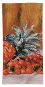 Strawberries And Pineapple Bath Towel