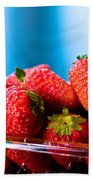 Strawberries In A Plastic Sale Box  Bath Towel