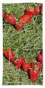 Strawberry Heart Bath Towel