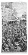 Street Car Strike, 1886 Bath Towel