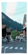 Street In Interlaken In Switzerland Bath Towel