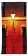 Street Lamp Cafe Bath Towel