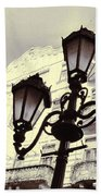 Street Lamps Of Budapest Hungary Bath Towel