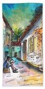 Street Life In Nicosia Bath Towel