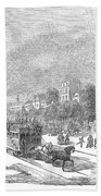 Street Railway, 1853 Bath Towel