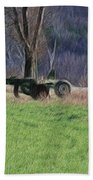 Subsoiler On The Farm  Bath Towel