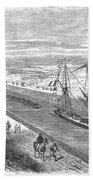 Suez Canal, 1868 Bath Towel
