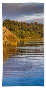 Summer Evening On Little River Bath Towel