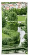 Summer Park In Belgium Bath Towel