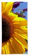 Summer Sunflower Bath Towel