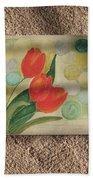 Sun And Tulips Bath Towel