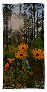 Sunburst On Sunflowers Bath Towel