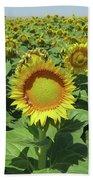 Sunflower And Honeybees July Two K O Nine  II Bath Towel