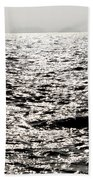 Sunlight On A Lake With Islands Bath Towel