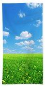 Sunny Spring Landscape Bath Towel