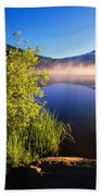Sunrise Fog On Trillium Lake Bath Towel