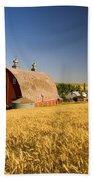 Sunset Barn And Wheat Field Steptoe Bath Towel