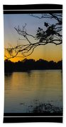 Sunset On The Dock Bath Towel