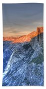 Sunset Over Half Dome Bath Towel