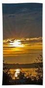 Sunset Over Steilacoom Bay Bath Towel
