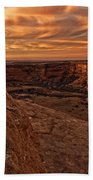 Sunset Over The Rim Of Canyon De Bath Towel