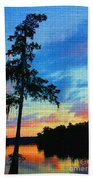 Sunset Over The Suwanee Mosaic Bath Towel
