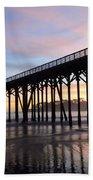 Sunset Pier San Simeon California 2 Bath Towel