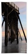 Sunset Pier California 3 Bath Towel