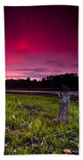 Sunset Stumps Bath Towel