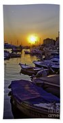 Sunsetting Over Rovinj 2 Bath Towel