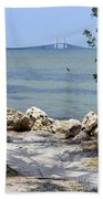 Sunshine Skyway From The Causeway Bath Towel